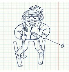 skier vector image