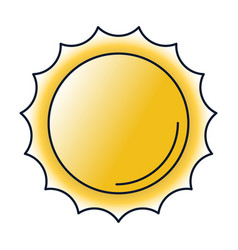 Sun flat icon vector