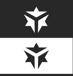 Three converging arrows forming letter y vector