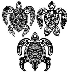 Turtle designs vector