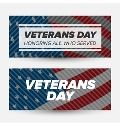 Veteran day banners vector image