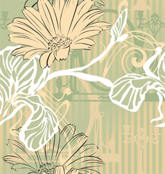 Vintage background in modern style vector