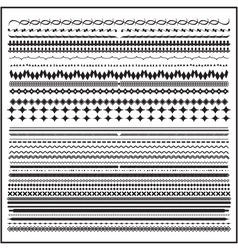 Vintage line border set and design element vector image