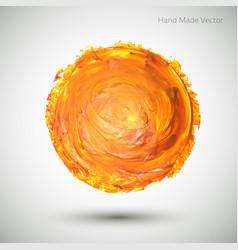 Watercolor-spot-orange vector