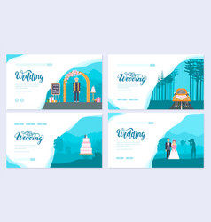 Wedding day brochure card set template of flyear vector