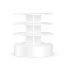 White Round Shelves Rack For Product Display vector