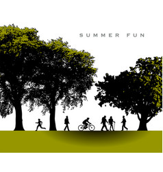 a delightful summer time park scene vector image