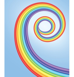 background with spiral rainbow vector image
