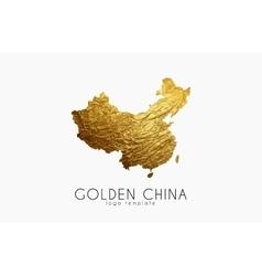 China map Golden China logo Creative China logo vector image vector image