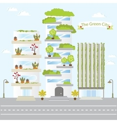 Eco Green City Future Building Design Life Nature vector image vector image