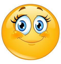 eyelashes emoticon vector image vector image