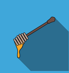 honey dipper icon in flat style isolated on white vector image vector image