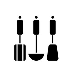 kitchen utensils hanging icon vector image
