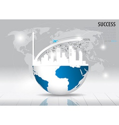 Modern design graph with drawing business strategy vector image vector image