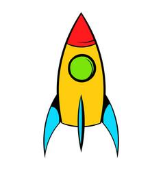 rocket icon icon cartoon vector image