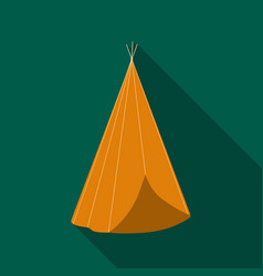 wigwam icon flate singe western icon from the vector image