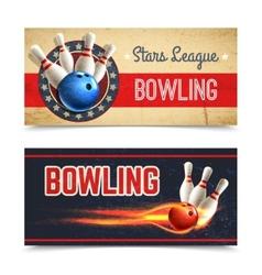 Bowling Banner Set vector image