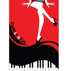 Dance poster vector image