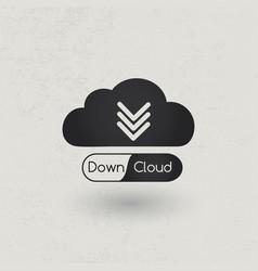 download cloud concept vector image