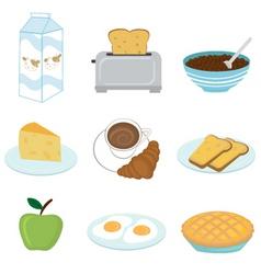healthy breakfast set vector image vector image