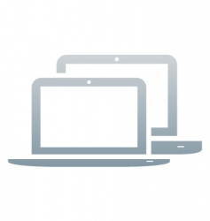 laptops icon vector image vector image