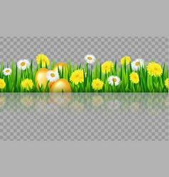seamless grass border vector image vector image