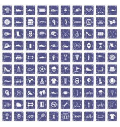 100 sneakers icons set grunge sapphire vector image vector image