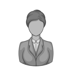 Avatar woman icon black monochrome style vector image vector image