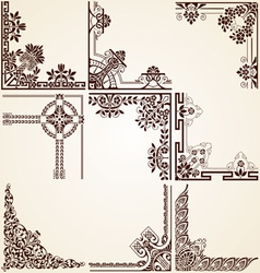Decorative ornamental corners vector image vector image