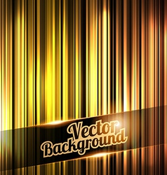 Golden and shiny stripes background With place for vector image