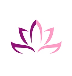 lotus flower abstract logo vector image vector image