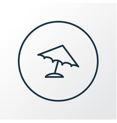 parasol icon line symbol premium quality isolated vector image vector image
