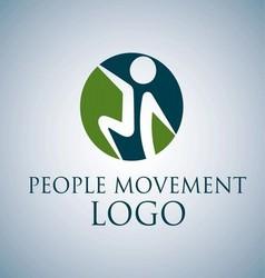 PEOPLE MOVEMENT LOGO 6 vector image