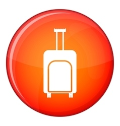 Travel suitcase icon flat style vector image vector image