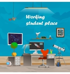 working student place vector image