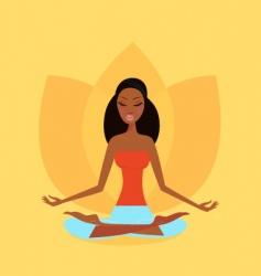 zen meditation vector image