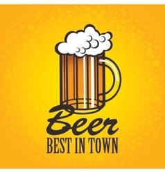 beer glasses on an orange background vector image