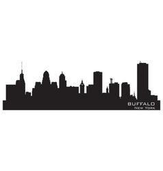 Buffalo New York Detailed city silhouette vector image vector image