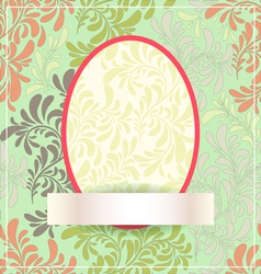 Easter egg made of flowers EPS10 vector image vector image