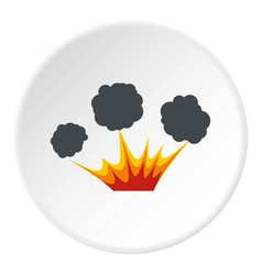 explosion icon circle vector image