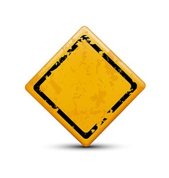 metal warning sign isolated on white background vector image vector image