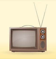 old retro tv vector image vector image