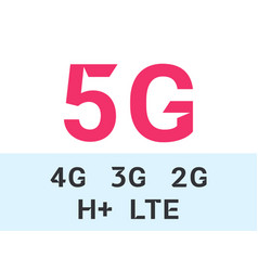 5g and internet mobile network icons vector