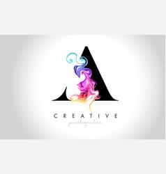 A vibrant creative leter logo design vector