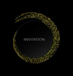 abstract background with gold luminous swirling vector image