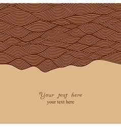 Abstract invitation card in chocolate theme vector image