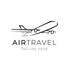 air travel logo template for tourism business vector image