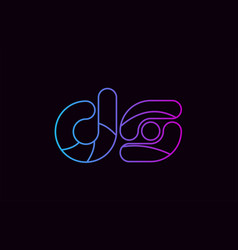 Alphabet letter combination ds d s logo company vector
