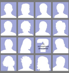 Anonymous Avatars vector image
