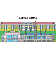 austria vienna city skyline architecture vector image